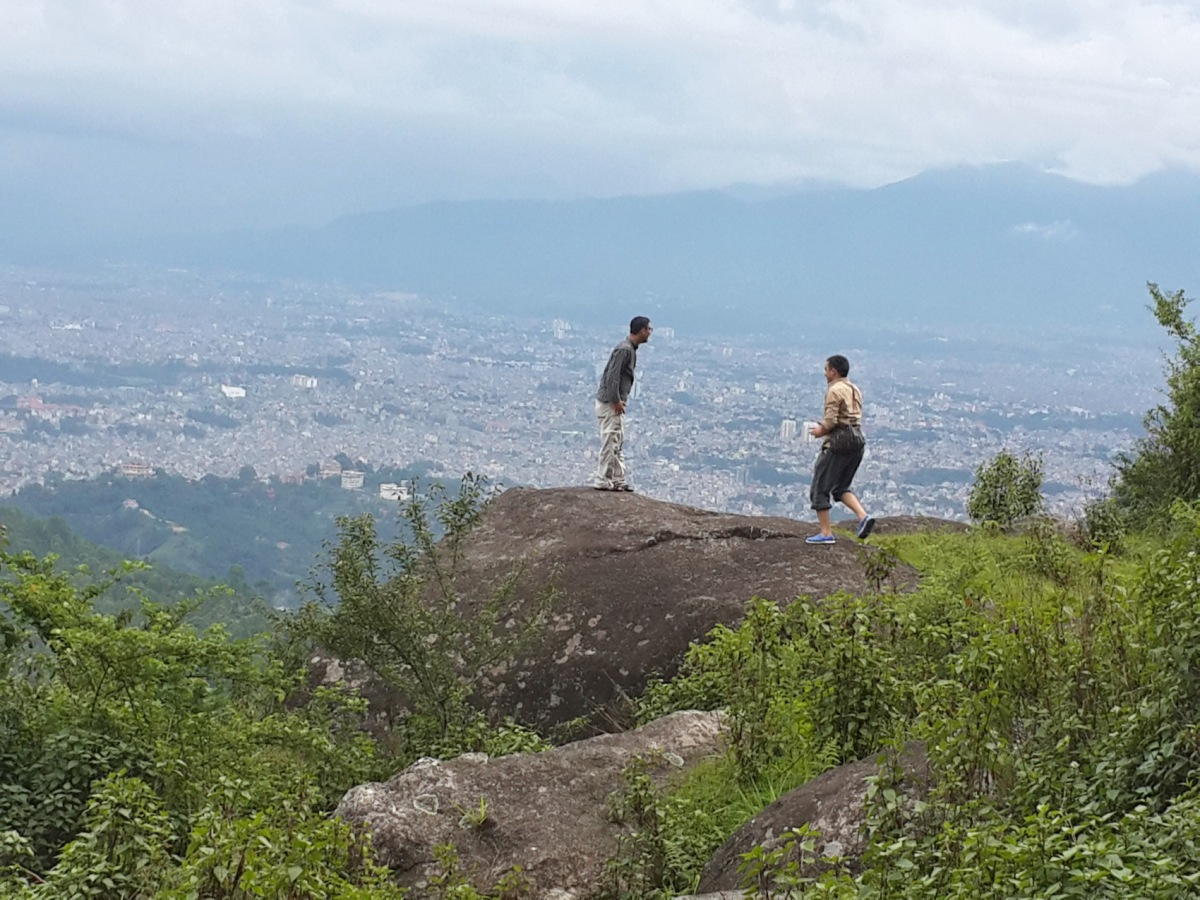 A part of the Kathmandu Valley