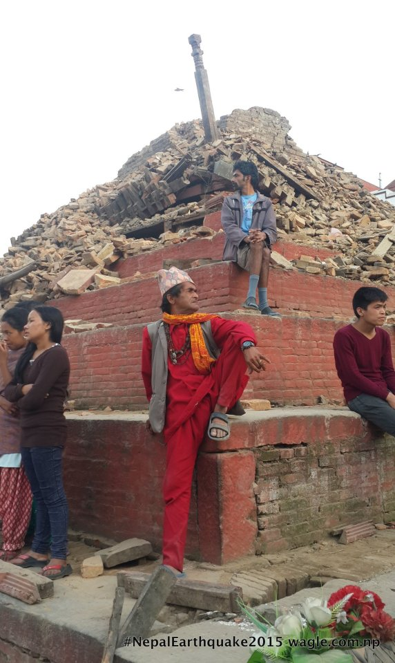 A day after the quake demolished Basantapur's Trailokya Mohan Temple, I saw people sitting on the damaged stairs. Shows what the place meant for Kathmandu. A place to sit and watch life go by.