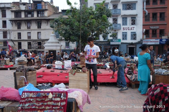 Souvenir shops crowd Basantapur in normal times.