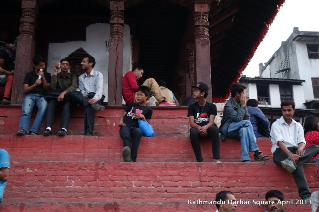 Stairs of Basantapur's Trailokya Mohan Temple.