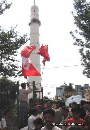 Perhaps the most famous landmark of Kathmandu, the Dharahara tower is no more.