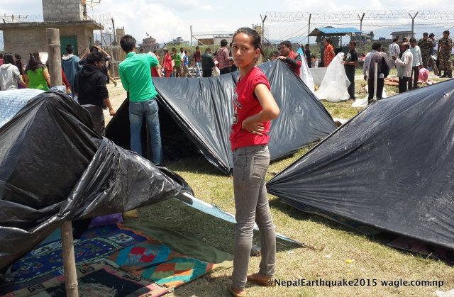 She stood in the middle of the tents and reflected on the unprecedented events in the past 48 hours.