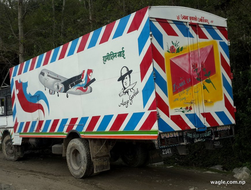 A lorry headed to China. An Airtruck or a roadplane?