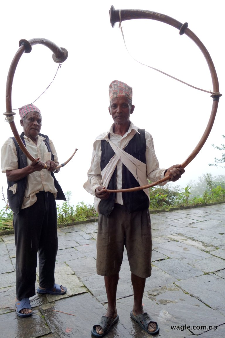 Men with their Narsinghas