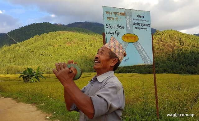 Fying kite in Chitlang