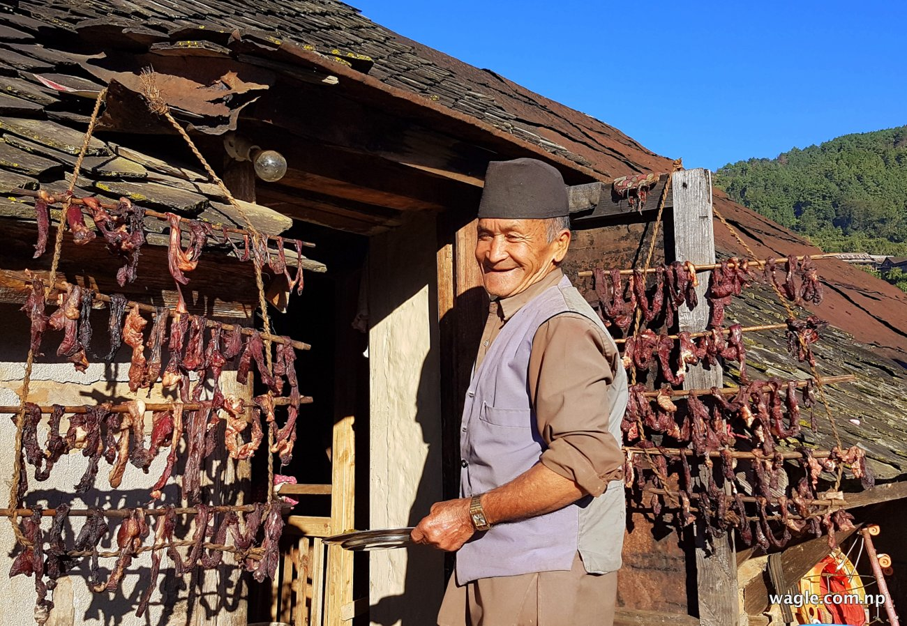 Lal Bahadur Shrestha runs a homestay business from his house in the Narayanhitti neighbourhood of Chitlang village.