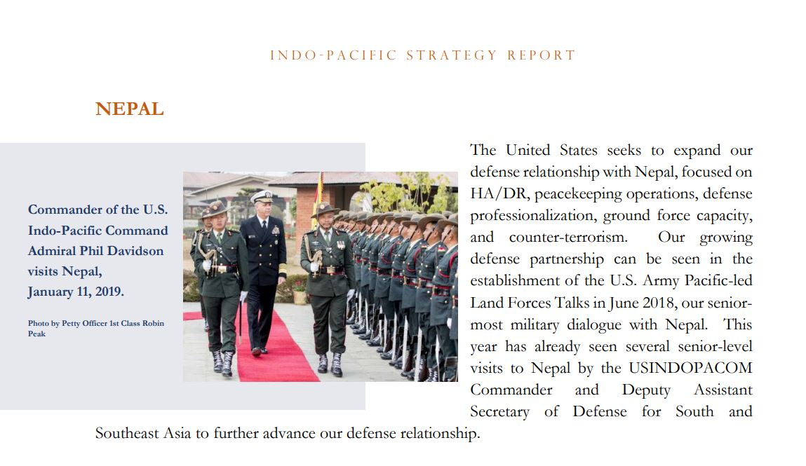 US Department of Defense IndoPacificStrategy Report